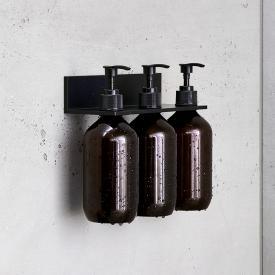 Alape Assist Duschablage mit 3 Seifenspendern schwarz matt