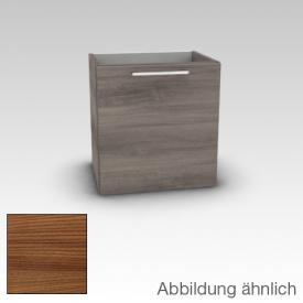 Artiqua 413 Waschtischunterschrank B: 38 H: 48,7 T: 28.5 cm, 1 Tür, Anschlag links, Griff D170 Front kirsche struktur / Korpus kirsche struktur