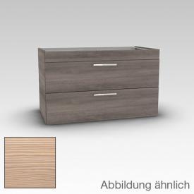 Artiqua 414 Waschtischunterschrank mit 2 Auszügen Front pinie honig / Korpus pinie honig