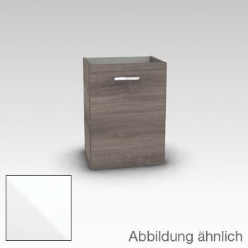 Artiqua 412 Waschtischunterschrank mit 1 Tür Front weiß hochglanz / Korpus weiß glanz