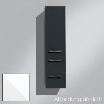 Artiqua 818 Midischrank mit 1 Tür und 2 Auszügen Front weiß glanz / Korpus weiß glanz