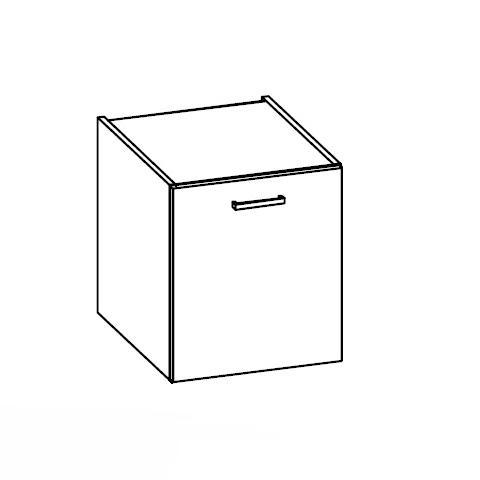 Artiqua 112 Unterschrank mit 1 Tür Front graphit struktur / Korpus graphit struktur