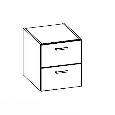 Artiqua 112 Unterschrank mit 2 Auszügen Front graphit struktur / Korpus graphit struktur