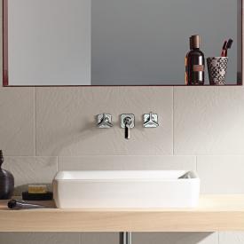 AXOR Citterio M 3-Loch Waschtischarmatur mit Sterngriffen für Wandmontage Ausladung: 166 mm