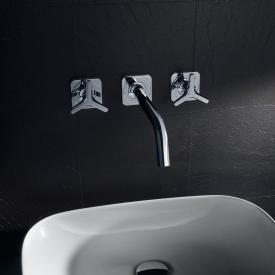 AXOR Citterio M 3-Loch Waschtischarmatur mit Sterngriffen für Wandmontage Ausladung: 226 mm