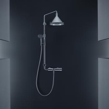 AXOR Showerpipe mit Thermostat und 2jet Kopfbrause designed by Front