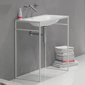 Bette Lux Shape Waschtisch mit Rahmengestell weiß/weiß matt, mit BetteGlasur Plus