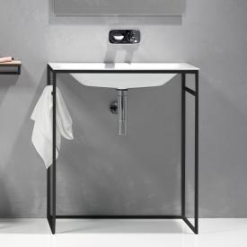 Bette Lux Shape Waschtisch mit Rahmengestell weiß/schwarz matt