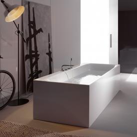 Bette Lux Silhouette Side Freistehende Rechteck-Badewanne Wanne weiß, mit BetteGlasur Plus, Ablaufgarnitur weiß