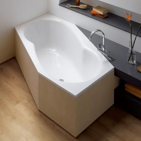 Bette Metric Sechseck-Badewanne, Fußende rechts weiß