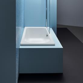 Bette Ocean Low-Line Rechteck-Badewanne, Überlauf vorne weiß, mit BetteGlasur Plus