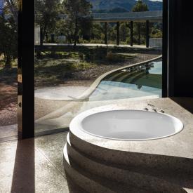 Bette Pond Rund-Badewanne, Einbau weiß