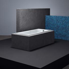 Bette Set Rechteck-Badewanne mit Duschzone weiß, mit BetteAntirutsch gesamte Bodenfläche, mit BetteGlasur Plus, für Griffmontage