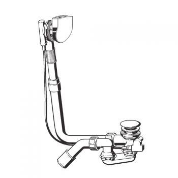 Bette Ablaufgarnitur Plus 5, standard 50 mm höherer Wasserstand, chrom