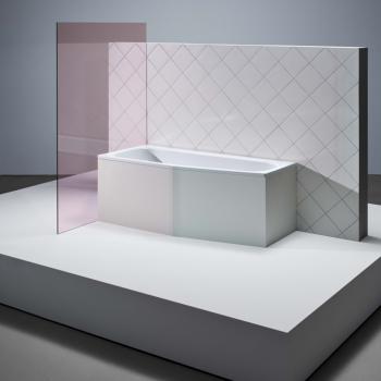 Bette Bambino Raumspar Badewanne, Fußende links weiß, mit BetteAntirutsch