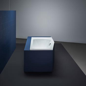 Bette Luna Raumspar Badewanne, Fußende rechts weiß, mit BetteGlasur Plus, für Griffmontage