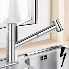 Blanco Tivo-S-F Einhebelmischer, mit Ausziehbrause, für Niederdruck, für Vorfenstermontage