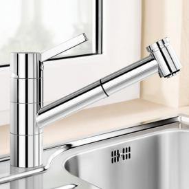Blanco Tivo-S-F Einhebelmischer, mit Ausziehbrause, für Vorfenstermontage