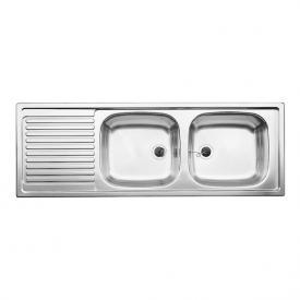 Blanco Top Spüle EZS 12x 4-2 B: 123,5 T: 43,5 cm