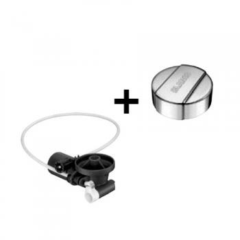 Blanco InFino® Nachrüst-Set für InFino® Ablaufsystem, inkl. Blanco Universal Drehbetätigung, rund edelstahl