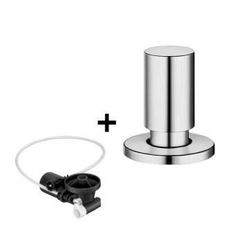 Blanco InFino® Nachrüst-Set für InFino® Ablaufsystem, inkl. Blanco Universal Zugknopf Edelstahl, rund edelstahl seidenglanz