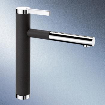Blanco Linee-S Einhebelmischer, Ausladung 208 mm, Auslauf ausziehbar anthrazit