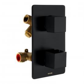 Bossini Black Unterputz-Brausethermostat für 2 oder 3 Verbraucher