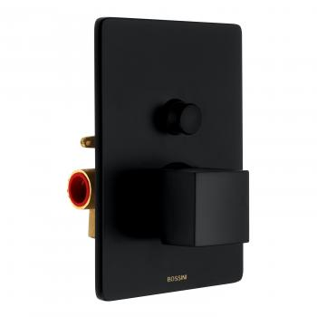 Bossini Black Unterputz Brause-Einhebelmischbatterie für 2 Verbraucher