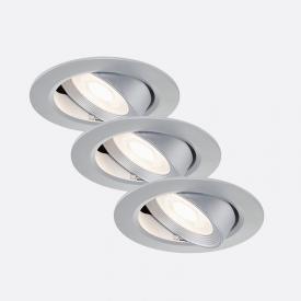 Briloner 3er Set LED Einbauleuchte rund, schwenkbar
