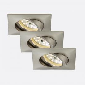 Briloner Attach 3er Set LED Einbaustrahler eckig, schwenkbar