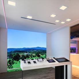 BRUMBERG FLAT30 LED Einbaupanel/Einbaustrahler eckig
