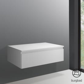 Burgbad Cube Sideboard mit 1 Auszug Front weiß matt / Korpus weiß matt