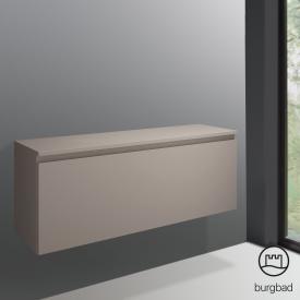 Burgbad Cube Unterschrank mit 1 Auszug Front basaltgrau matt / Korpus basaltgrau matt