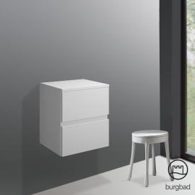 Burgbad Cube Unterschrank mit 2 Auszügen Front weiß matt / Korpus weiß matt