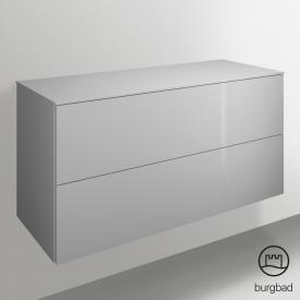 Burgbad Essence Sideboard mit 2 Auszügen Front weiß hochglanz/Korpus weiß hochglanz