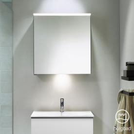 Burgbad Fiumo Spiegelschrank mit horizontaler LED-Beleuchtung, 1 Spiegeltür