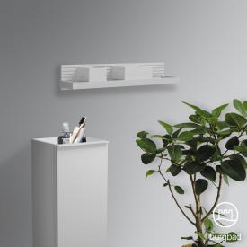 Burgbad Fiumo Wandboard mit Metallreling weiß matt, Reling weiß