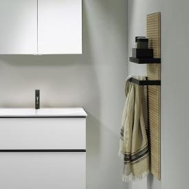 Burgbad Fiumo Wandpaneel, 2 Handtuchhalter eiche cashmere dekor