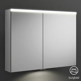Burgbad Iveo Spiegelschrank mit LED-Beleuchtung mit 2-Türen mit Waschtischbeleuchtung