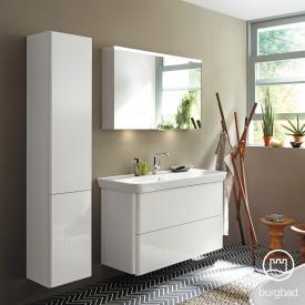 Burgbad Iveo Waschtisch mit Waschtischunterschrank mit 2 Auszügen Front weiß hochglanz / Korpus weiß hochglanz