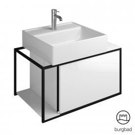 Burgbad Junit Aufsatzwaschtisch mit Waschtischunterschrank mit 1 Auszug Front weiß hochglanz / Korpus weiß hochglanz