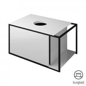 Burgbad Junit Waschtischunterschrank mit 1 Auszug für Aufsatzwaschtisch Front weiß hochglanz / Korpus weiß hochglanz
