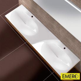 Burgbad Pli Doppelwaschtisch rechteckig weiß