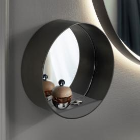 Burgbad Spiegel mit Ablage dunkelgrau matt