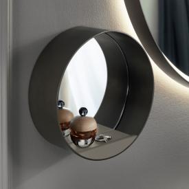 Burgbad Spiegel mit Ablage grau matt