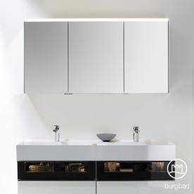 Burgbad Yumo Spiegelschrank mit LED-Beleuchtung und 3 Türen ohne Waschtischbeleuchtung