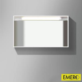 Burgbad Accura beleuchteter Spiegel Front verspiegelt / Korpus weiß hochglanz