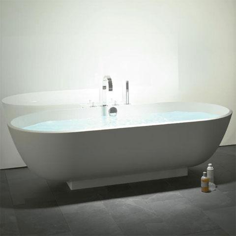 Burgbad Crono 2.0 Ovale Mineralguss Badewanne weiß