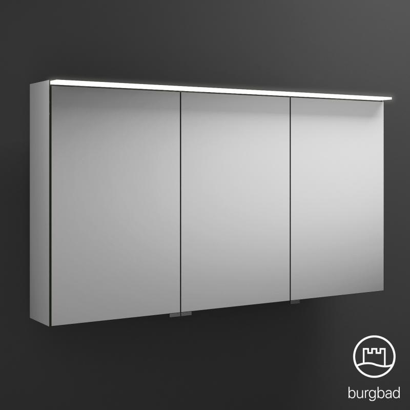 Hervorragend Burgbad Junit Spiegelschrank mit LED-Beleuchtung mit 3 Türen ohne PW24