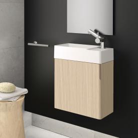 Cosmic fancy Handwaschbecken mit Waschtischunterschrank mit 1 Tür weiß matt, eiche